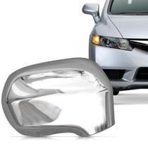 Aplique Cromado para Retrovisor Honda Civic 2007 a 2011 Lado Direito - Shekparts