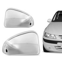 Aplique Cromado Retrovisor Chevrolet Celta 2000 a 2006 Fácil Instalação Encaixe Sob Medida - Serauto