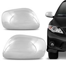 Aplique Cromado Retrovisor Corolla 2008 a 2013 Acabamento e Encaixe Perfeitos - Blawer