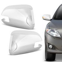 Aplique Cromado Retrovisor Corolla 2008 a 2013 com Seta Encaixe Perfeito - Blawer