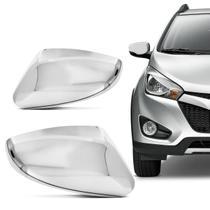 Aplique Cromado Retrovisor Hyundai HB20 2012 a 2014 com Pisca Encaixe Sob Medida Acabamento Perfeito - Shekparts