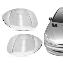Aplique Cromado Retrovisor Peugeot 206 207 1999 a 2010 C3 Picasso 2003 a 2011 Hoggar 2010 a 2013 - Serauto