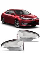 Aplique Cromado Retrovisor Toyota Corolla 2015 até 2018 -