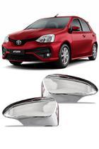 Aplique Cromado Retrovisor Toyota Etios 2014 até 2018 -