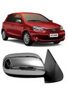 Aplique Cromado Retrovisor Toyota Etios até 2014 -