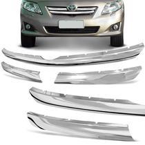 Aplique da Grade Frontal Toyota Corolla 2008 a 2011 Cromado - ShekParts