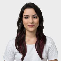 Aplique De Cabelo Ombre Extension Hairdo 40cm Preto Ameixa -