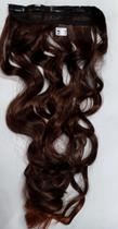 Aplique de cabelo ondulado sintético castanho acobreado com pontas acobreadas tic tac MK LO 503 - Não Informado