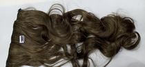 Aplique de cabelo sintético castanho com mechas loiras escura tic tac MKLO 504 - Não Informado