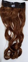 Aplique de cabelo sintético ondulado castanho cobre tic tac MKLO 510 - Não Informado