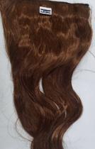 Aplique de cabelo sintético ondulado castanho cobre tic tac MKLO510 - Não Informado