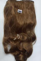 Aplique de cabelo sintético ondulado castanho médio tic tac MKLO 509 - Não Informado