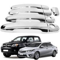 Aplique de Maçaneta Toyota Hilux Corolla 2002 a 2015 Cromado - Shekparts