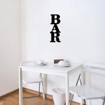 Aplique De Parede Bar Letras Palavras em Mdf 3mm Preto Comércio Bebidas Lettering Placa Frase Decorativo - Mongarte decor