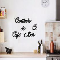 Aplique De Parede Frase Cantinho Do Cafe Bar Mdf Preto Fosco Letras Palavras Decoratovas Cozinha Casa - Mongarte Decor