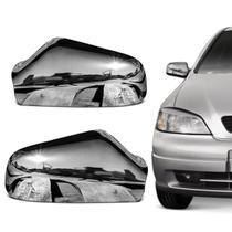 Aplique de Retrovisor Cromado Chevrolet Astra Hatch e Sedan 1998 a 2012 Fácil Instalação - Shekparts