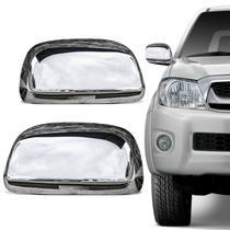 Aplique de Retrovisor Cromado Toyota Hilux SR SRV 2005 a 2011 SW4 2005 a 2011 Acabamento Perfeito - Serauto