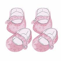 Aplique Decoupage Litoarte APM4-282 em Papel e MDF 4cm Sapato Bebê Rosa -