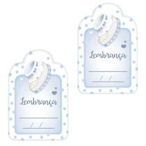 Aplique Decoupage Litoarte APM4-341 em Papel e MDF 4cm Lembrança Sapatinho de Bebê Masculino -