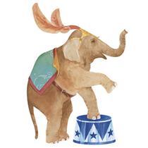 Aplique Decoupage Litoarte APM8-546 em Papel e MDF 8cm Elefanta de Circo -