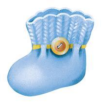 Aplique Decoupage Litoarte APM8-574 em Papel e MDF Sapatinho Azul -
