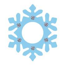 Aplique Decoupage Litoarte APM8-594 em Papel e MDF Floco de Neve Azul -
