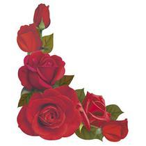 Aplique Decoupage Litoarte APM8-984 em Papel e MDF 8cm Cantoneira Rosas Vermelhas -
