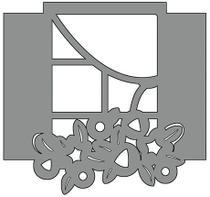 Aplique em Chipboard Scrap Formas Cardboard Janela SFC6-004 Litoarte -