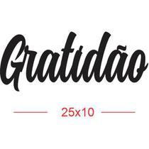 Aplique em MDF palavra GRATIDÃO - Vis La Vie