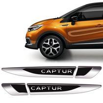 Aplique Lateral Captur 2018/2021 Emblema Resinado Cromado - Sportinox