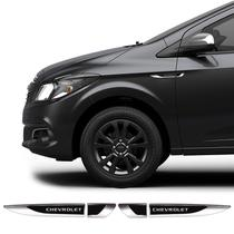 Aplique Lateral Chevrolet Onix Prisma Cruze Emblema Cromado - Prime