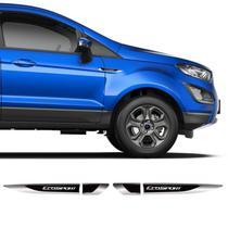 Aplique Lateral Ecosport 2013/2020 Emblema Cromado Resinado - Prime