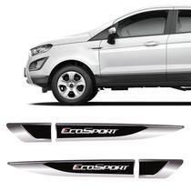 Aplique Lateral Ecosport 2013/2020 Emblema Cromado Resinado - Sportinox