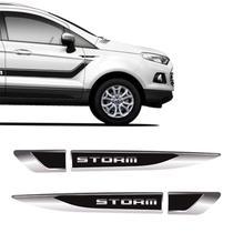 Aplique Lateral Ecosport Storm Emblema Cromado Resinado Par - Sportinox