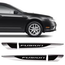 Aplique Lateral Ford Fusion Decorativo Emblema Resinado Par - Sportinox