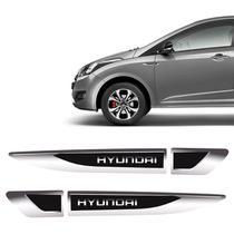 Aplique Lateral Hyundai Hb20 I30 Creta Adesivo Resinado Par - Sportinox