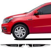 Aplique Lateral Volkswagen Gol Polo Fox Up Emblema Cromado - Sportinox