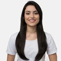 Aplique Liso Longo Hairdo 63cm Castanho Super Escuro -