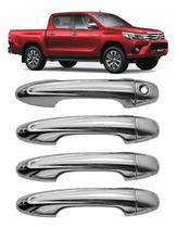 Aplique Maçaneta 16/20 Toyota Hilux Sw4 Yaris Cromado 4p - Shekparts