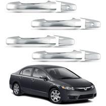 Aplique Maçaneta Cromado Honda Civic 2007 a 2011 -