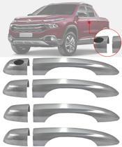 Aplique Maçaneta Cromado Sem Furo Fiat Toro 4 Peças - Carliza
