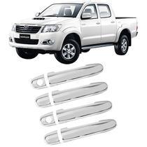 Aplique Maçaneta Cromado Toyota Hilux 2005 a 2015 Acessorios -