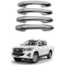 Aplique Maçaneta Cromado Toyota Hilux 2016 a 2020 -