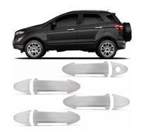 Aplique Macaneta Ecosport 2013 a 2015 4 Portas Cromado - Ford
