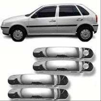 Aplique Macaneta Gol Parati Saveiro G3 G4 2000 a 2009 4 Portas Cromada - Volkswagen