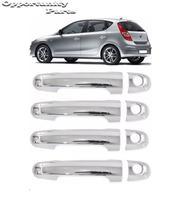 Aplique Macaneta I30 2009 a 2012 4 Portas Cromado - Hyundai