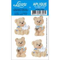 Aplique MDF e Papel Litoarte 3 cm - Modelo APM3- 056 Ursos -