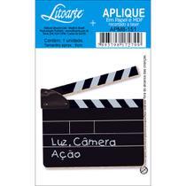 Aplique MDF e Papel Litoarte 8 cm - Modelo APM8- 151 Claquete -
