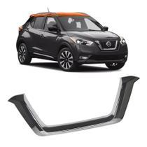 Aplique Moldura Friso Cromado Grade Frontal Nissan Kicks Pcd - Prime