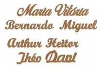 Aplique Nomes Mdf Personalisado Parede Festas 45 Cm - Arte Quadro